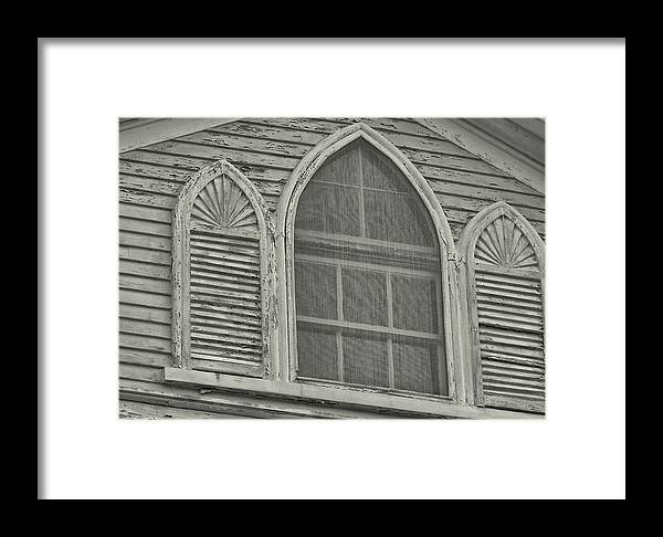 Nantucket Framed Print featuring the photograph Nantucket Gothic Window by JAMART Photography