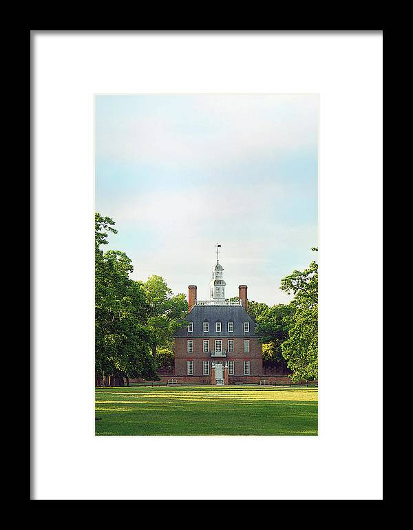 Colonial Williamsburg Photograph Framed Print featuring the photograph Governor Palace - Williamsburg by Panos Trivoulides