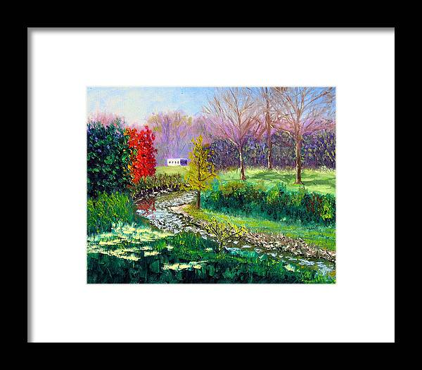 Original Oil On Canvas Framed Print featuring the painting Gp 10-18 by Stan Hamilton