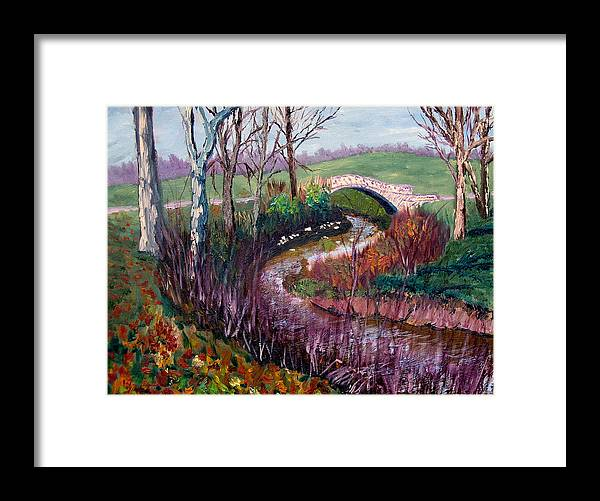 Landscape Framed Print featuring the painting Gp 11-22 by Stan Hamilton