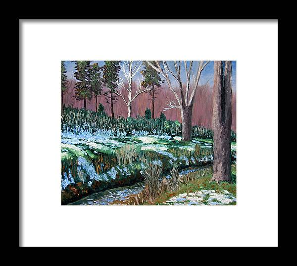 Original Oil On Canvas Framed Print featuring the painting Gp 12-21 by Stan Hamilton