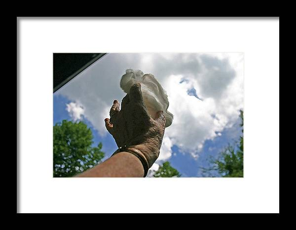 Cloud Framed Print featuring the photograph Grabbing A Piece Of The Sky by Beebe Barksdale-Bruner