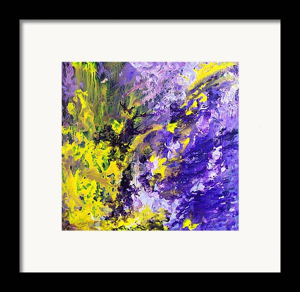 Yellow Framed Print featuring the painting Grace by Jess Thorsen