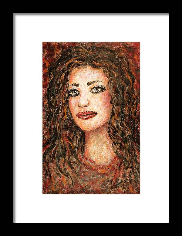Grace Framed Print featuring the painting Grace by Natalie Holland