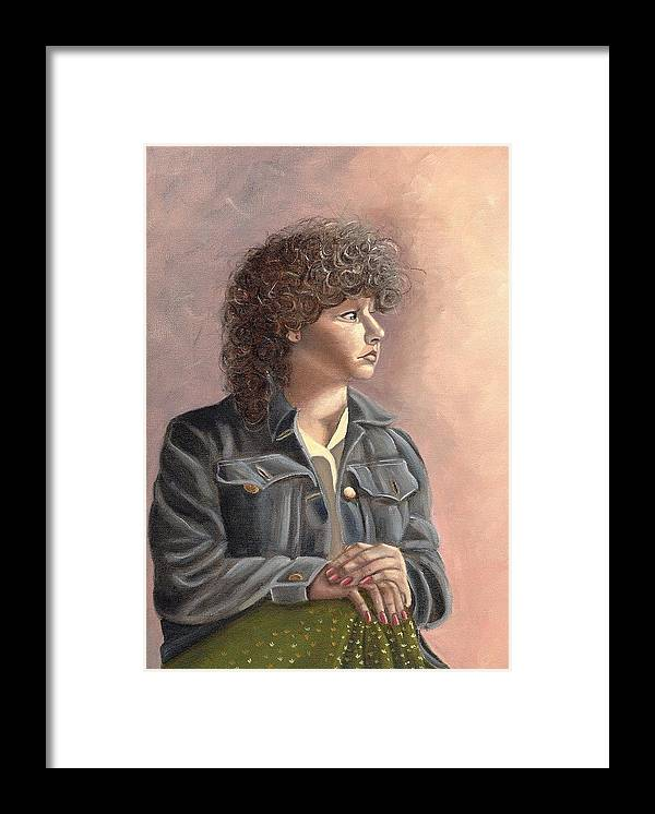 Framed Print featuring the painting Grace by Toni Berry