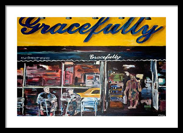 New York City Paintings Framed Print featuring the painting Gracefully by Wayne Pearce