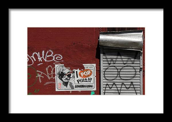 Graffiti Framed Print featuring the photograph Graffiti 1 by Andrew Fare