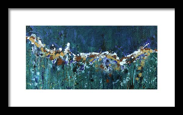 Abstract Framed Print featuring the painting Confetti Junction by K Batson Art