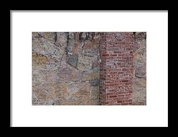 Elivis Presley Framed Print featuring the photograph Graffiti Wall Graceland Memphis Tennessee by Wayne Higgs