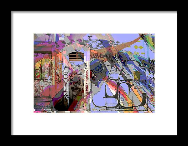 Front Door Framed Print featuring the mixed media Graffitis Front Door by Martine Affre Eisenlohr