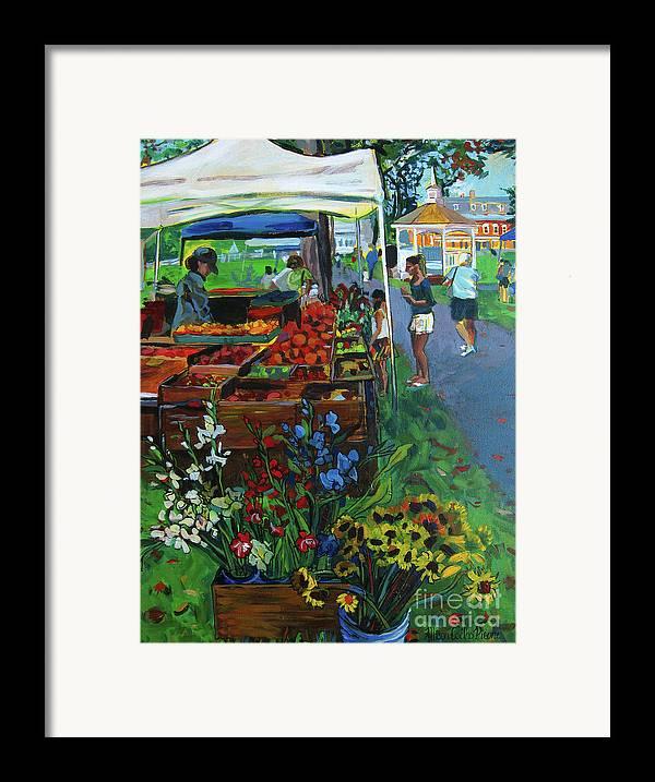 Grafton Framed Print featuring the painting Grafton Farmer's Market by Allison Coelho Picone
