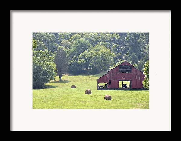 Landscapes Framed Print featuring the photograph Grampa's Summer Barn by Jan Amiss Photography
