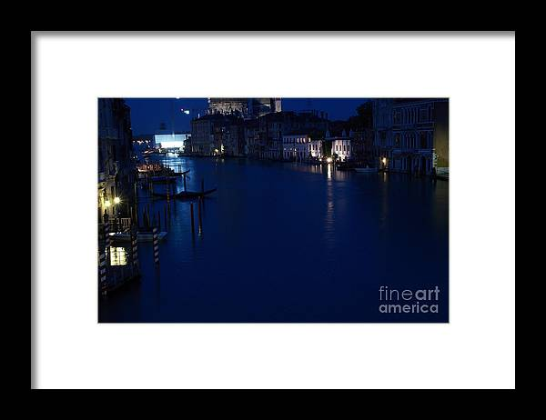 Venice Framed Print featuring the photograph Grand Canal In Venice At Night by Michael Henderson