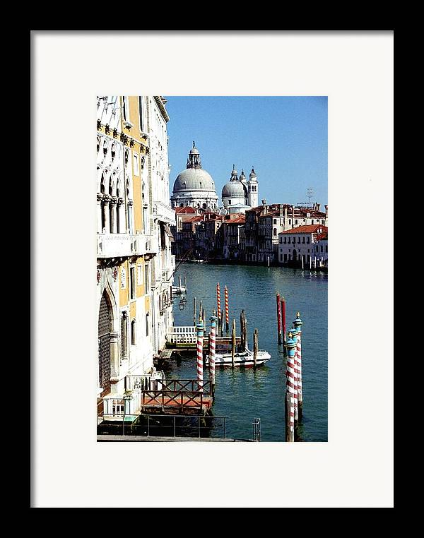 Venice Framed Print featuring the photograph Grand Canal In Venice From Accademia Bridge by Michael Henderson