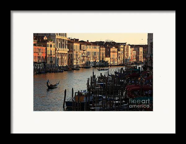 Venice Framed Print featuring the photograph Grand Canal In Venice From The Rialto Bridge by Michael Henderson
