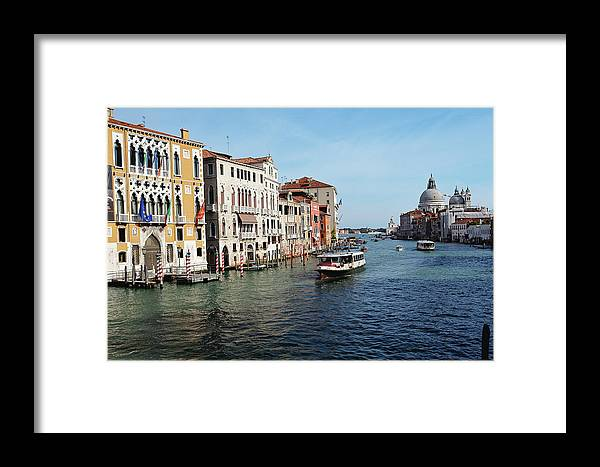 Academy Framed Print featuring the photograph Grand Canal View At The Academy Bridge by George Oze