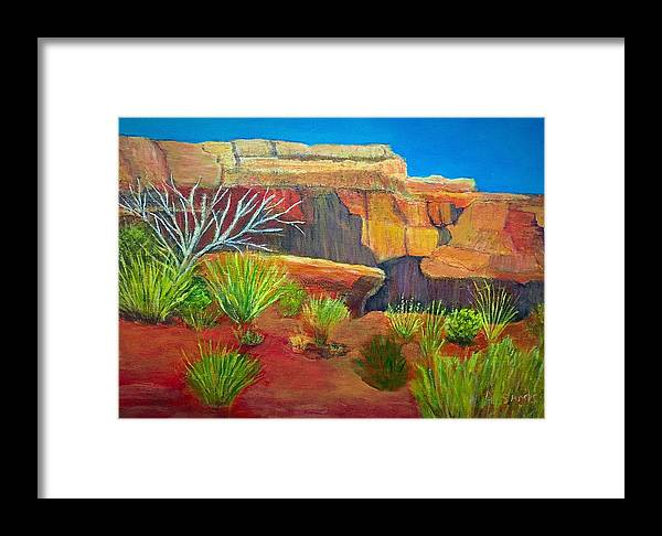 Grand Canyon Framed Print featuring the painting Grand Canyon by Anne Sands