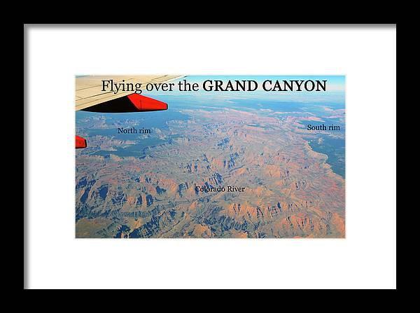 Grand Canyon Framed Print featuring the photograph Grand Canyon Flight by David Lee Thompson