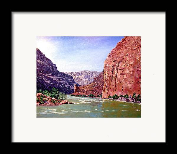 Original Oil On Canvas Framed Print featuring the painting Grand Canyon I by Stan Hamilton