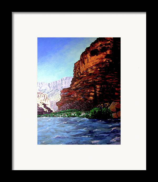 Oiriginal Oil On Canvas Framed Print featuring the painting Grand Canyon II by Stan Hamilton