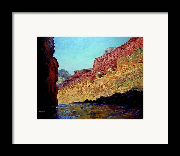 Original Oil On Canvas Framed Print featuring the painting Grand Canyon IIi by Stan Hamilton