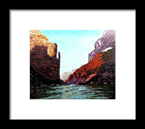 Original Oil On Canvas Framed Print featuring the painting Grand Canyon IV by Stan Hamilton