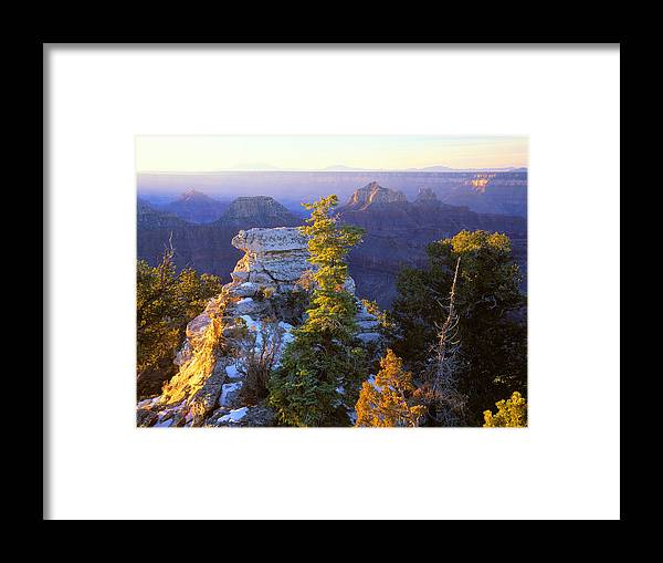 Usa Framed Print featuring the photograph Grand Canyon Sunrise by Johan Elzenga