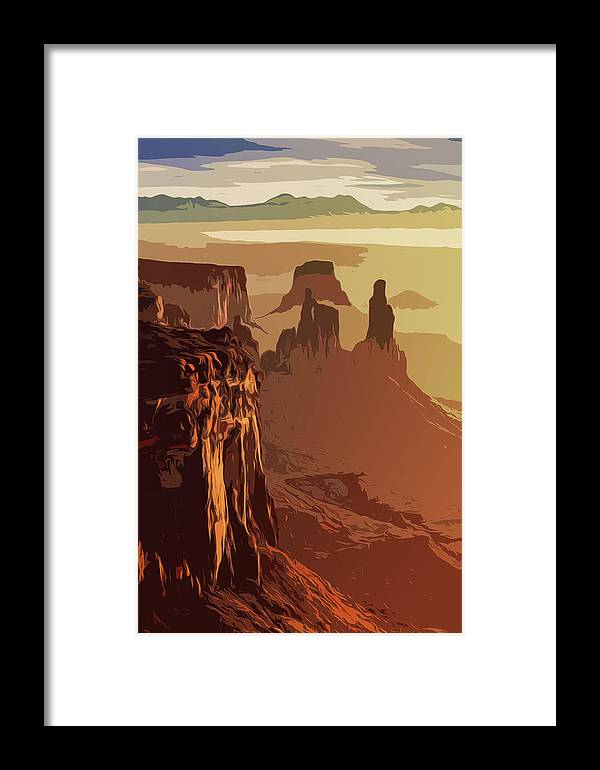 Canyon National Park Framed Print featuring the painting Grand Canyon - Usa by Andrea Mazzocchetti