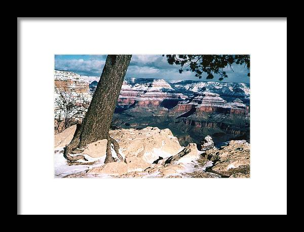 Grand Canyon Framed Print featuring the photograph Grand Canyon Winter by Lynn Bawden