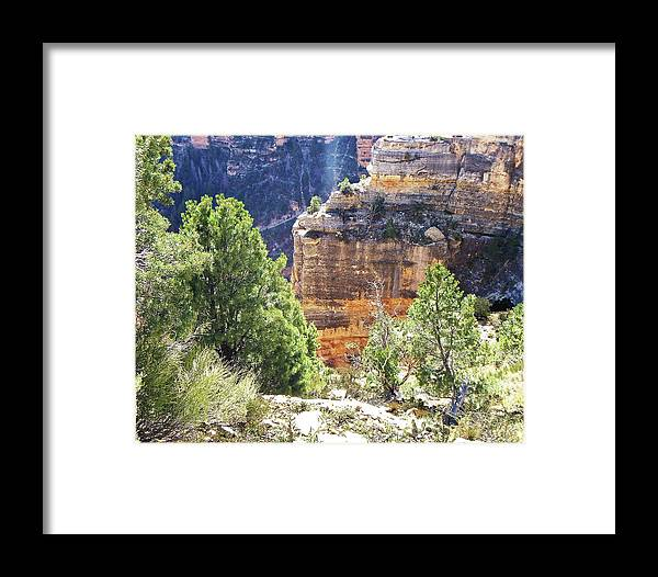 The Grand Canyon Is Arizona's Wonder Of The World. Framed Print featuring the photograph Grand Canyon12 by George Arthur Lareau
