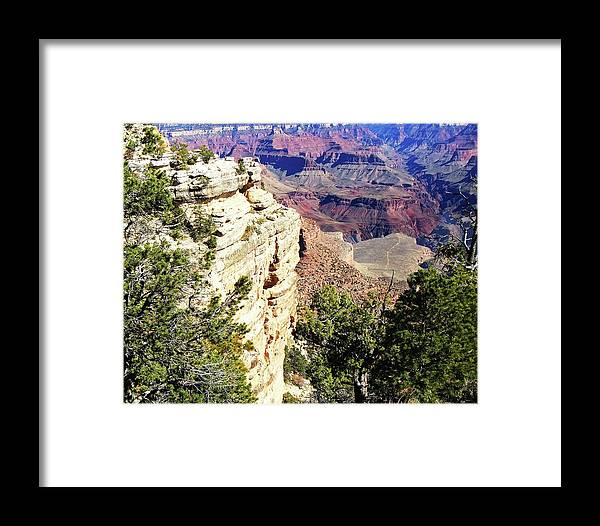 The Grand Canyon Is Arizona's Wonder Of The World. Framed Print featuring the photograph Grand Canyon13 by George Arthur Lareau