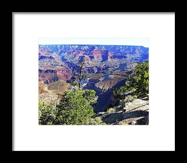 The Grand Canyon Is Arizona's Wonder Of The World. Framed Print featuring the photograph Grand Canyon14 by George Arthur Lareau