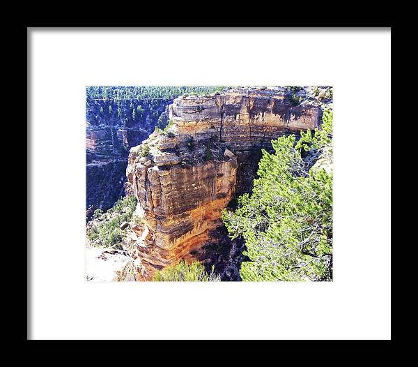 The Grand Canyon Is Arizona's Wonder Of The World. Framed Print featuring the photograph Grand Canyon15 by George Arthur Lareau