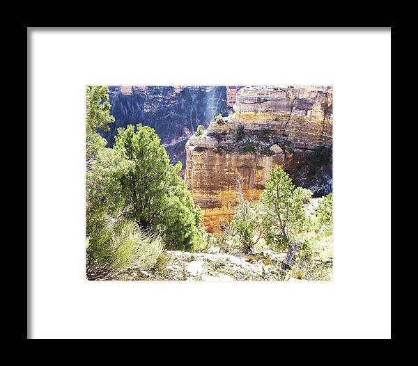 The Grand Canyon Is Arizona's Wonder Of The World. Framed Print featuring the photograph Grand Canyon16 by George Arthur Lareau