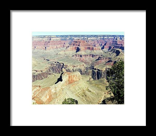 The Grand Canyon Is Arizona's Wonder Of The World. Framed Print featuring the photograph Grand Canyon22 by George Arthur Lareau