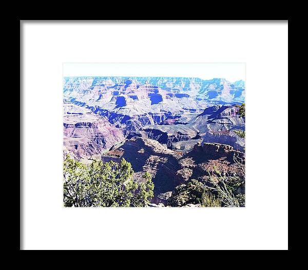 The Grand Canyon Is Arizona's Wonder Of The World. Framed Print featuring the photograph Grand Canyon23 by George Arthur Lareau