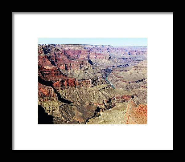The Grand Canyon Is Arizona's Wonder Of The World. Framed Print featuring the photograph Grand Canyon29 by George Arthur Lareau