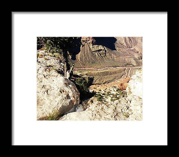 The Grand Canyon Is Arizona's Wonder Of The World. Framed Print featuring the photograph Grand Canyon33 by George Arthur Lareau