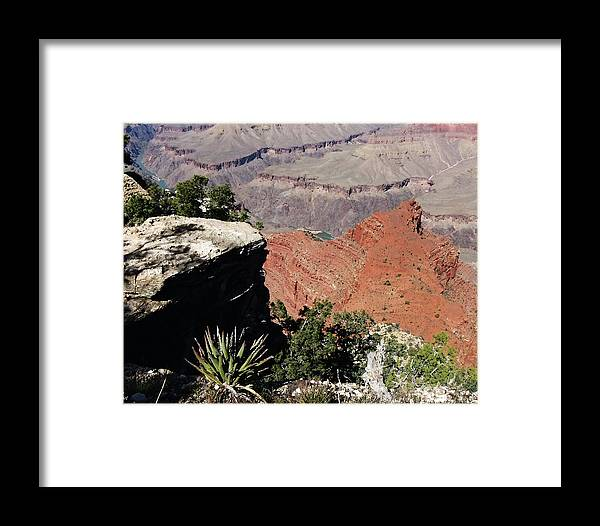 The Grand Canyon Is Arizona's Wonder Of The World. Framed Print featuring the photograph Grand Canyon35 by George Arthur Lareau