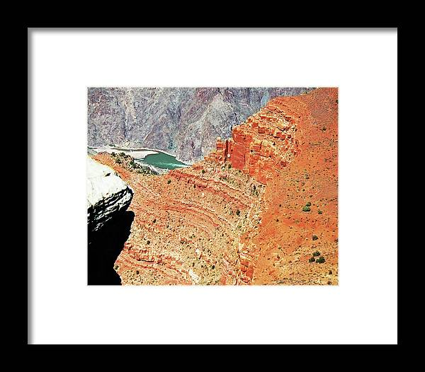 The Grand Canyon Is Arizona's Wonder Of The World. Framed Print featuring the photograph Grand Canyon36 by George Arthur Lareau