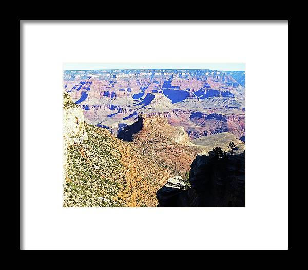 The Grand Canyon Is Arizona's Wonder Of The World. Framed Print featuring the photograph Grand Canyon4 by George Arthur Lareau