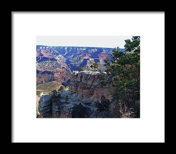 The Grand Canyon Is Arizona's Wonder Of The World. Framed Print featuring the photograph Grand Canyon7 by George Arthur Lareau