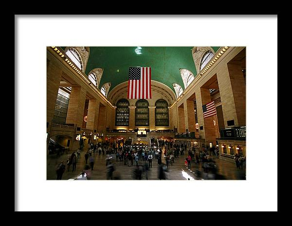 Grand Central Station Framed Print featuring the photograph Grand Central Station by Caroline Clark