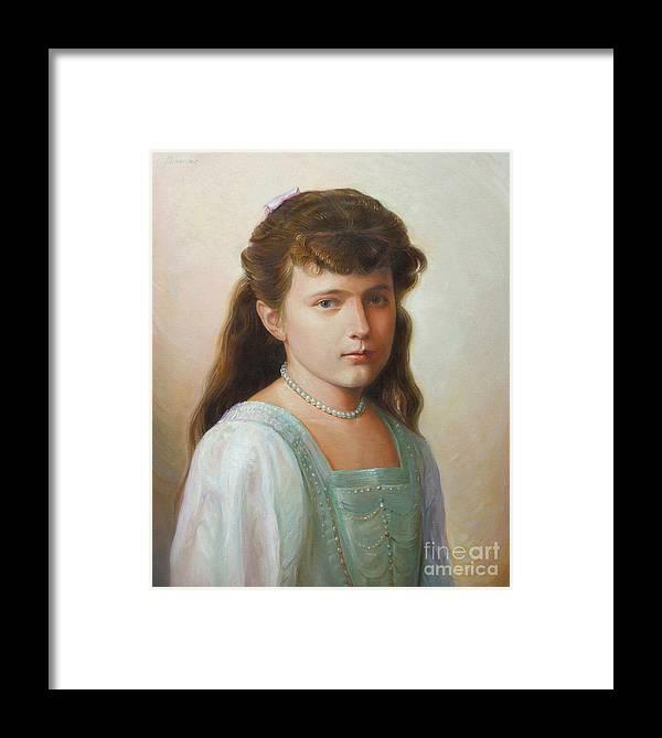 Grand Duchess Anastasia Nikolaevna Of Russia Framed Print featuring the painting Grand Duchess Anastasia Nikolaevna Of Russia by George Alexander