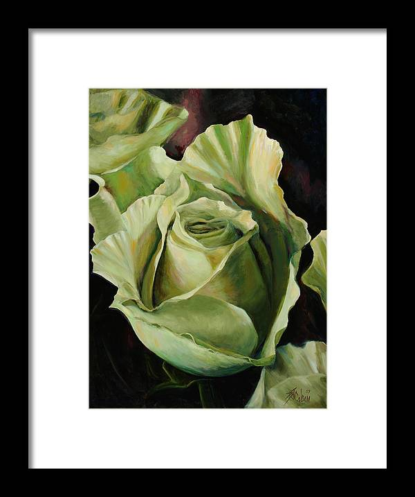 Roses Framed Print featuring the painting Grand -opening by Billie Colson