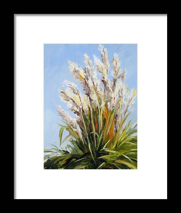 Daily Painting Framed Print featuring the painting Grand Pampas by Cheryl Pass