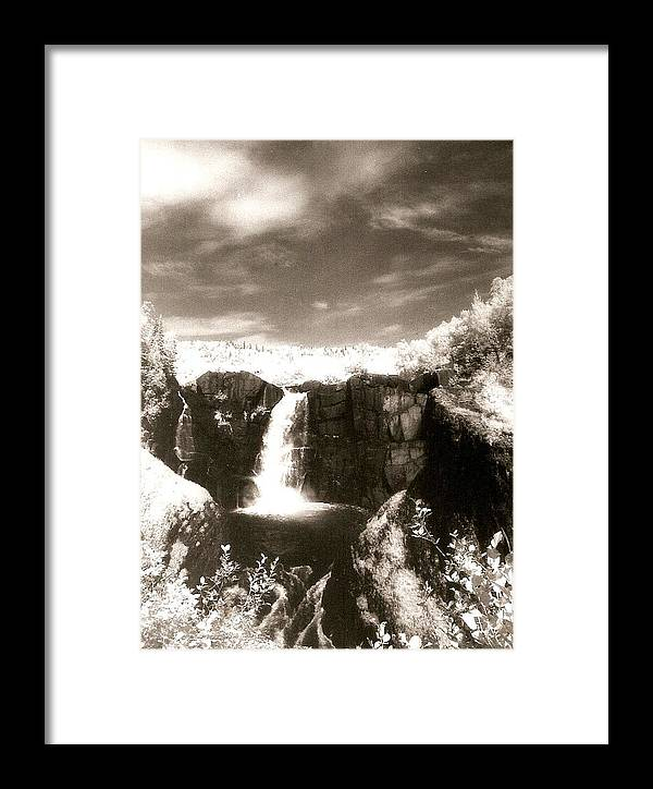 Photograph Framed Print featuring the photograph Grand Portage Falls by Patricia Bigelow