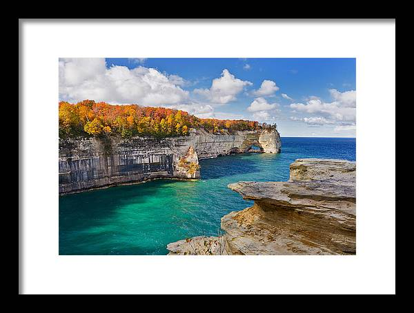 Grand Portal Framed Print featuring the photograph Grand Portal Point October by Tim Trombley