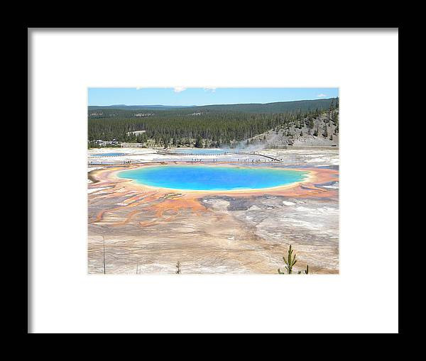 Grand Prismatic Hot Spring Yellowstone National Park Framed Print featuring the photograph Grand Prismatic by Matt Johnson