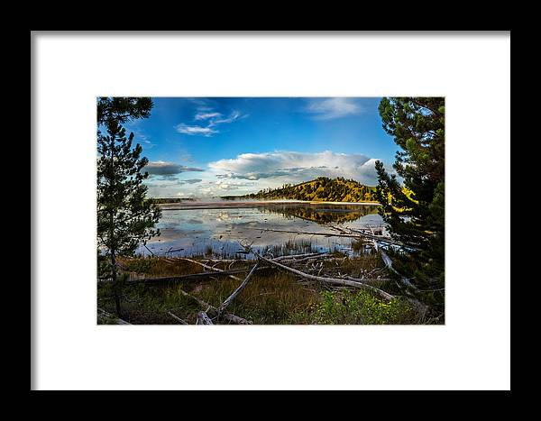 Grand Prismatic Spring Framed Print featuring the photograph Grand Prismatic Spring by Tonino Vicari